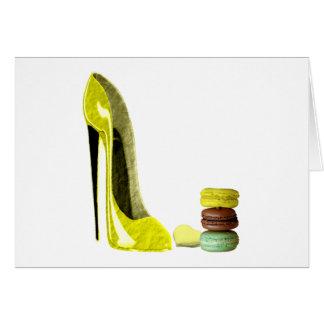 レモン小剣の靴およびMacaroonsの芸術 カード