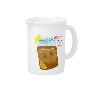 レモン水差しが付いている甘い茶 ピッチャー