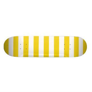 レモン熱心の黄色のストライプパターン 19.7CM スケートボードデッキ