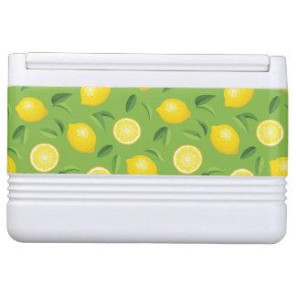 レモン背景パターン イグルークーラーボックス