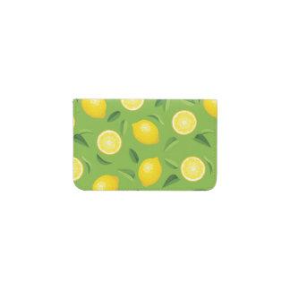 レモン背景パターン 名刺入れ