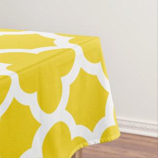 レモン色のクラシックなクローバーのテーブルクロス テーブルクロス