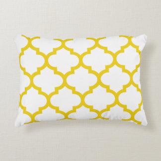 レモン色のクローバーのOgeeのアクセントの枕- アクセントクッション