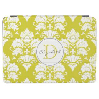 レモン色のダマスク織のモノグラムのiPadカバー iPad Air カバー
