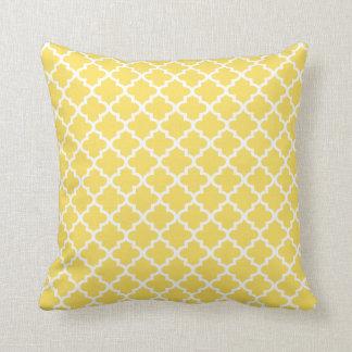 レモン色のモロッコのクローバーパターン枕  クッション