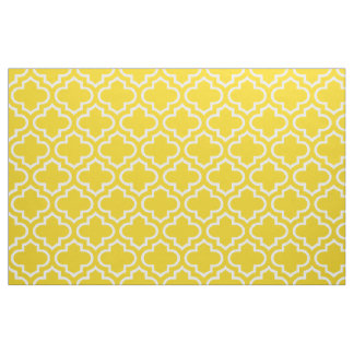レモン色のモロッコの格子垣パターン生地02 ファブリック