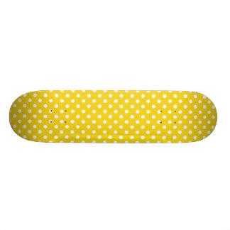レモン色の水玉模様パターン スケートボード