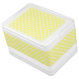 レモン色の水玉模様パターン IGLOO クーラーボックス