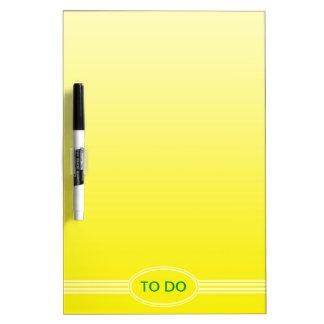 レモン色の色の勾配だけ- + あなたの文字 ホワイトボード