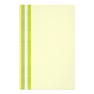 レモン色及び白いリネン一見の陰は縞で飾ります 便箋