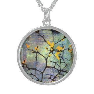 レモン花の枝ネックレス スターリングシルバーネックレス