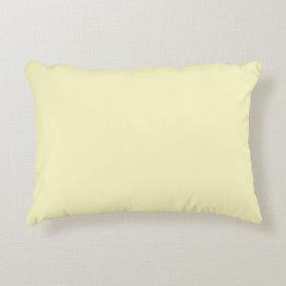 レモン軽くて柔らかい無地 アクセントクッション
