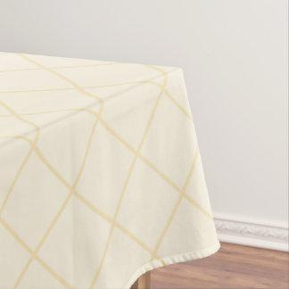 レモン軽くて柔らかい黄色はテーブルクロスを平方します テーブルクロス