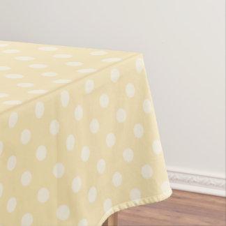 レモン軽くて柔らかく黄色いpolksの点のテーブルクロス テーブルクロス