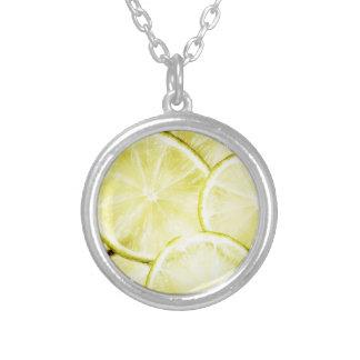 レモン2 シルバープレートネックレス