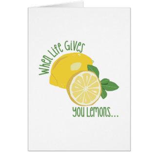 レモン カード