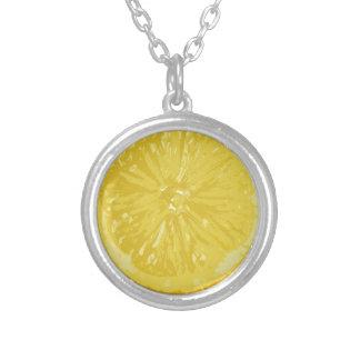 レモン シルバープレートネックレス