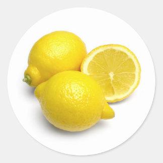 レモン ラウンドシール