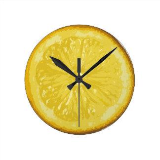 レモン ラウンド壁時計