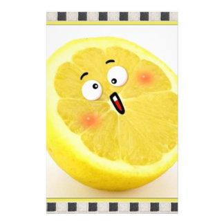 レモン 便箋