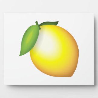 レモン- Emoji フォトプラーク