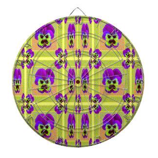 レモンSharles著紫色のパンジーパターンギフト ダーツボード