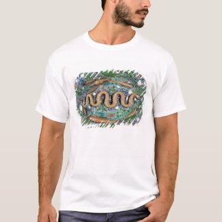 レリーフ、浮き彫りで形成される大きい楕円形の皿 Tシャツ