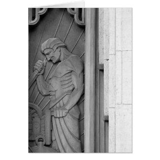 レリーフ、浮き彫りの労働者 カード