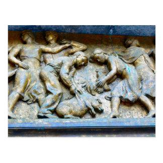 レリーフ、浮き彫りの装飾、オスロ市役所 ポストカード