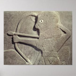 レリーフ、浮き彫り描写しますハンターと、から言ってHalaf下さい、 ポスター