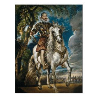 レルマの公爵- Rubensの乗馬のポートレート ポストカード