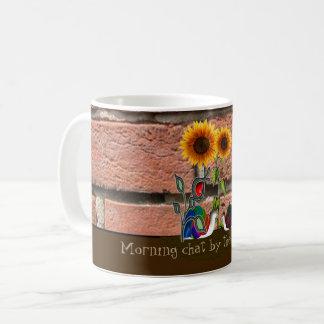レンガ壁による庭 コーヒーマグカップ