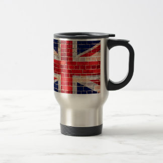 レンガ壁のイギリスの旗 トラベルマグ