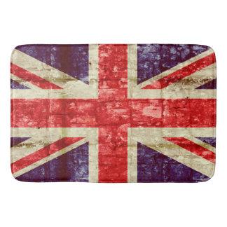 レンガ壁のヴィンテージのイギリスの旗 バスマット