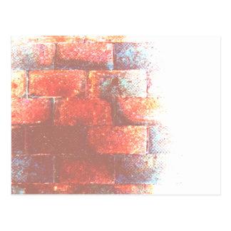 レンガ壁。 デジタルArt. ポストカード