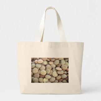 レンズ豆の布の買い物袋 ラージトートバッグ