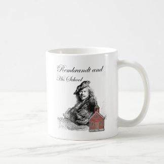 レンブラントおよび彼の学校のユーモア コーヒーマグカップ
