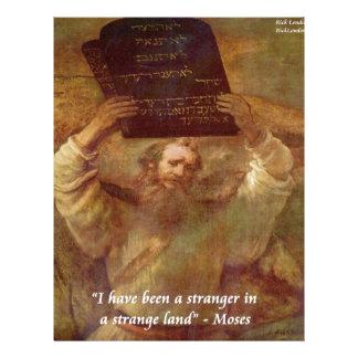 レンブラントのモーゼ及び聖書の引用文 レターヘッド