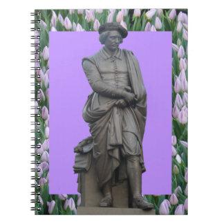 レンブラントの彫像のアムステルダムのノート ノートブック
