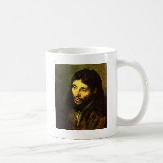 レンブラント著イエス・キリストの頭部 コーヒーマグカップ