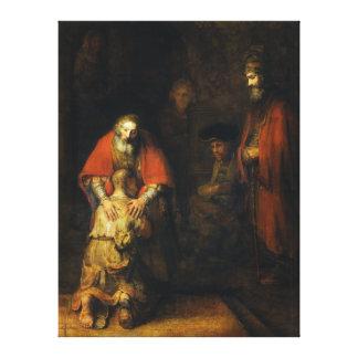 レンブラント著放蕩な息子のリターン キャンバスプリント