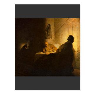 レンブラント著EmmausのChristus ポストカード