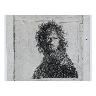 レンブラント: 眉をひそめる自画像 ポストカード