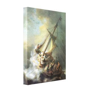レンブラント- Galileの海の嵐のキリスト キャンバスプリント