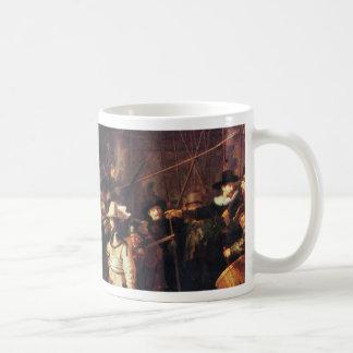 レンブラントHarmensz著夜警員。 ヴァンRijn コーヒーマグカップ