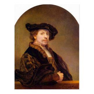 レンブラントHarmenszoon van Rijn著自画像 ポストカード