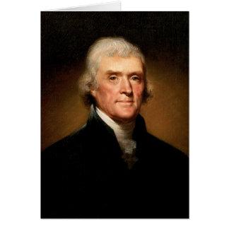 レンブラントPeale著トーマス・ジェファーソンのポートレート カード