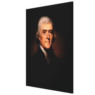 レンブラントPeale著トーマス・ジェファーソンのポートレート キャンバスプリント