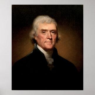 レンブラントPeale著トーマス・ジェファーソンのポートレート ポスター