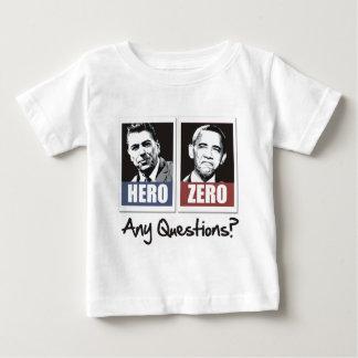 レーガンの英雄オバマゼロ ベビーTシャツ